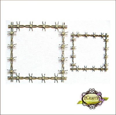 Square Barbed Wire Frames (units of 3)