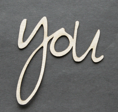 You, loopy font (unit of 3)
